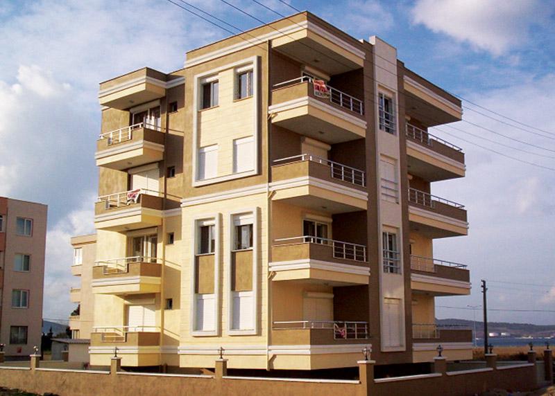 ساختمان رنگ شده با رنگ الاستوبه